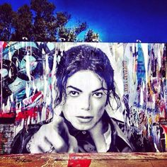 A graffiti painting of Michael Jackson.