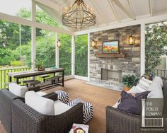 Screened In Porch Design Ideas . Screened In Porch Design Ideas . Porch To Sunroom, Screened Porch Designs, Screened In Porch, Porch And Patio, Front Porch, Outdoor Rooms, Outdoor Living, Indoor Outdoor, Outdoor Kitchens