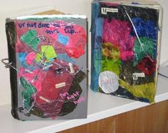 ArtLight Therapy & Studios: Altered Books with Adolescents | Using altered books with bereaved teens has proven to be a beautiful format for telling the stories of their loved ones and their own journey through loss - their chapters of grief, coping, and memories.
