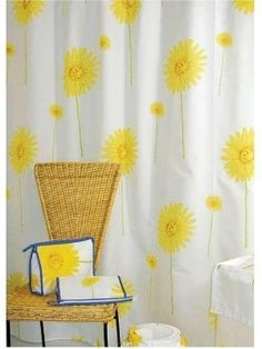 23 best ideas for bathroom with yellow tub images on pinterest ghdcandy yellow shower curtain yellow flower 180cm width x 180cm drop mightylinksfo