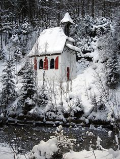Christmas Church in Snow