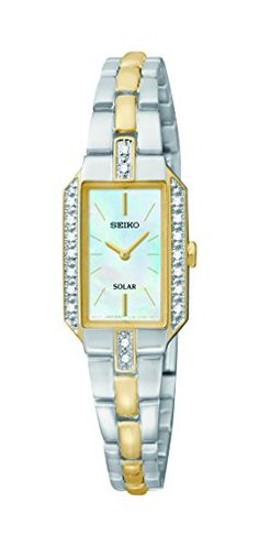 Seiko Womens SUP234 Dress Solar TwoTone Watch -- You can find out more  details at 57b67492be0