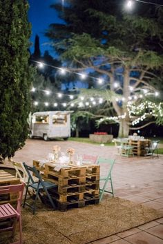 Love the rustic yet magical feel to this setting