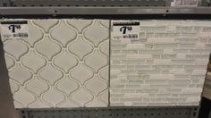 Ceramic and glass mosaic Tile for kitchen backsplash at home depot