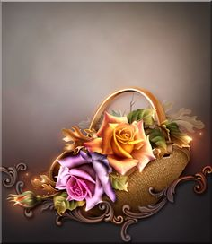 Kwiat tła z Crea