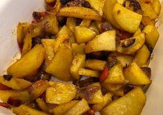 Sült krumplis köret bármilyen húshoz Sweet Potato, Potatoes, Vegetables, Food, Potato, Essen, Vegetable Recipes, Meals, Yemek