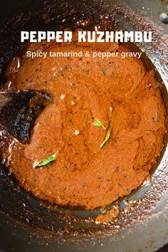 Recipe for Tambram style milagu kuzmabhu / spicy black pepper gravy. This tradtional tamarind based gravy is usually eaten with rice. Easy Vegetarian Dinner, Low Carb Vegetarian Recipes, Best Vegan Recipes, Vegetarian Cooking, Healthy Recipes, Indian Beef Recipes, Goan Recipes, Spicy Recipes, Indian Soup