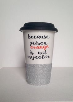 Ceramic coffee travel mug with silicone lid by FarmhouseChicHanna on Etsy