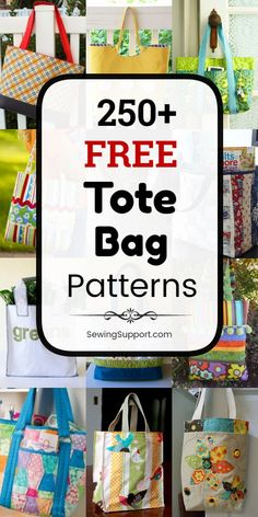 Free Tote Bag Patterns Free Tote Bag patterns, tutorials, and diy sewing projects. Many simple and easy designs. Bag Pattern Free, Sewing Patterns Free, Free Sewing, Gifts For Teen Boys, Gifts For Teens, Diy Tote Bag, Tote Bags, Wallet Tutorial, Diy Blog