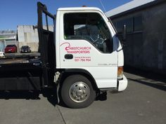 Check out Christchurch Transporters distinctive logo! When aiming for brand recognition why not choose vehicle graphics that instantly show what your business is all about! #brandrecognition #speedysigns Towing And Recovery, Transporter, Cool Cars, Trucks, Graphics, Logo, Business, Vehicles, Check