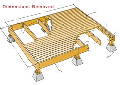 how to build a 12x12 deck frame