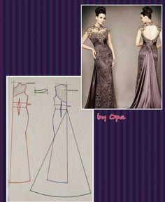 #pattern #fashionpattern #sewpattern #sewing #dresspattern #polabaju #polagaun #poladress #pomobaki