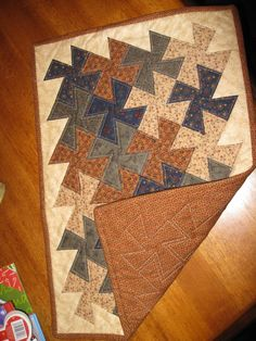 Table Topper...Very first Quilting Project...