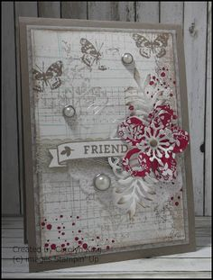 by Carolyn: Bloomin' Love, Timeless Textures, Grateful Bunch, Writing Notes, Love Blossoms dsp stack, Botanical Builder framelits - all from Stampin' Up!