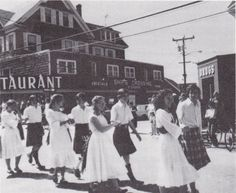 May Day Scottish dancers. Date unknown.