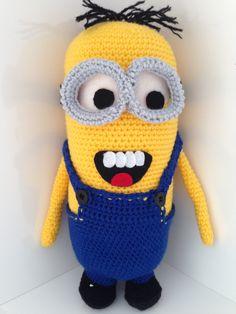 Crocheted 'Minion' amigurimi figure