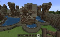 Best plot in the city, with private lake Minecraft Bridges, Minecraft Castle, Minecraft Tips, Minecraft Blueprints, Minecraft Designs, Minecraft Creations, How To Play Minecraft, Minecraft Projects, Cool Minecraft