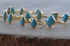 SLEEPING BEAUTIES /// Turquoise Electroformed Rings by luxdivine