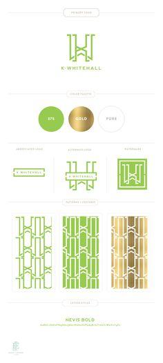 Branding Design for K Whitehall | Luxury Branding, Logo, Original Pattern Design | Retail Branding and Packaging  |  www.emilymccarthy.com