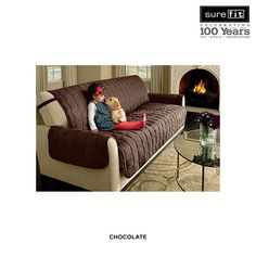 SureFit Deluxe Soft Microsuede Waterproof Furniture Cover - Assorted Styles at 64% Savings off Retail!