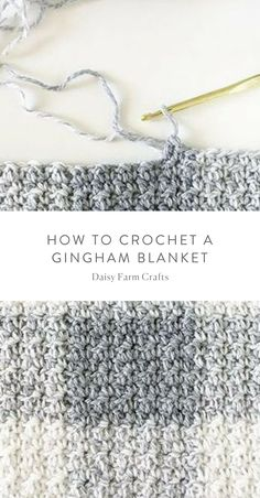 How to Crochet a Gingham Blanket