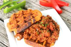 Paleo Sloppy Joes with Sweet Potato Waffles - Predominantly Paleo sweet potato waffles