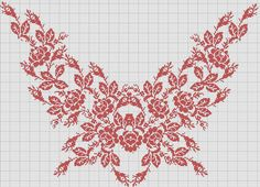Cross Stitch Borders, Cross Stitch Rose, Cross Stitch Flowers, Cross Stitch Designs, Cross Stitching, Cross Stitch Patterns, Folk Embroidery, Embroidery Patterns Free, Cross Stitch Embroidery