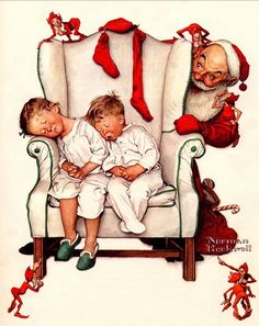 Twas The Night Before Christmas by Norman Rockwell (1894 – 1978, American)http://www.behance.net/tristan-olphe norman rockwell christmas