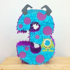 monsters inc piñata Baby Birthday Themes, Birthday Pinata, Third Birthday, Birthday Party Decorations, Birthday Party Invitations, Party Themes, Monster Party, Monster Birthday Parties, Monsters Inc 3