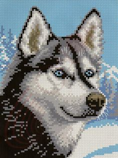 Cross Stitch Fabric, Cross Stitch Needles, Cross Stitching, Cross Stitch Embroidery, Owl Quilt Pattern, Dog Pattern, Cross Stitch Designs, Cross Stitch Patterns, Pixel Drawing
