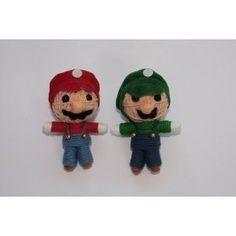 Mario and Luigi Super Bros Voodoo String Doll Keychain