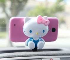 Hello Kitty Smart Phone Car Stand: Pink Bow