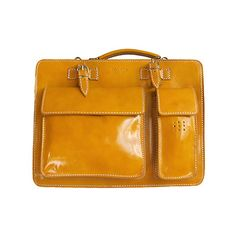 Ladies Yellow Italian Leather Briefcase/Work Bag (Medium Size) - RRP £74.99, our price - £59.99