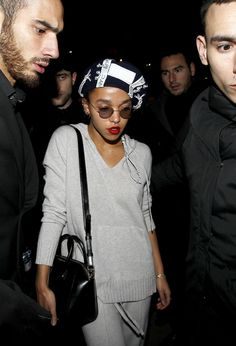 FKA Twigs and Robert Pattinson leaving the Casino de Paris