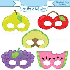 Fruits 2 Printable Masks avocado mask cherry mask grapes pear watermelon fruit costume mask f Printable Halloween Masks, Printable Masks, Printables, Printable Party, Toddler Crafts, Crafts For Kids, Banana Mask, Fruit Costumes, Crafts