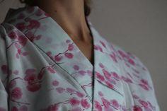 Yukata/Summer Kimono used Vintage cotton by WildRosebudDesigns, $95.00