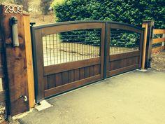Hand made steel frames and western red cedar gates by LGIW.