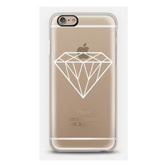iPhone 6 Plus/6/5/5s/5c Case - White Transparent Diamond Design ($40) ❤ liked on Polyvore featuring accessories, tech accessories, iphone, diamond, phone, phone case and white