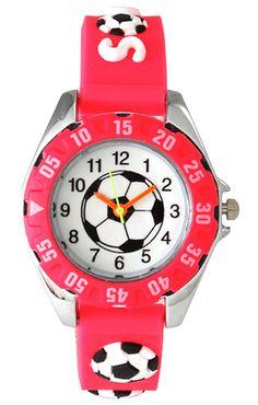 Kids' soccer-themed watch