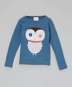 Look at this #zulilyfind! Stellar Night Owl Tee - Toddler & Girls #zulilyfinds