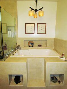 Nirvana deep soaking bath: Cabuchon's most popular deep soaking tub, the space-saving Nirvana is hand-crafted, supremely comfortable and sold worldwide. Wood Bath, Bath Tub, Modern Luxury Bedroom, Luxurious Bedrooms, Space Saving Baths, Bath Boms, Deep Soaking Tub, Tub Remodel, Dark Interiors