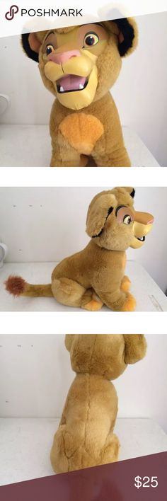 """Rare lion king 90s simba Super rare from 1990's! Lion king """"simba rubber face plush"""" in great condition. Perfect for all the lion king fans ❤️❤️ from the Disney store had this doll when I was a babyy Disney Other"""