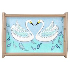 WHITE SWAN 114 X2 PAISLEY WATER DROPS SERVING TRAY