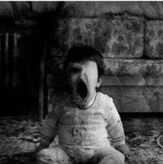 Horror Child Ghost Black and White Picture