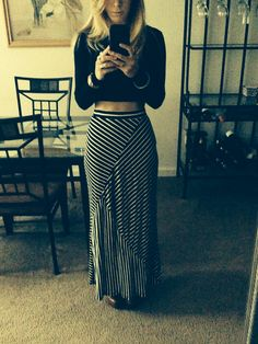 Style crop top and maxi skirt