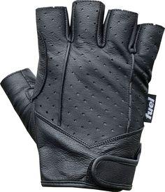 Fuel Helmets SH-FG5501 Genuine Leather Fingerless Gloves, Black, Medium/Large