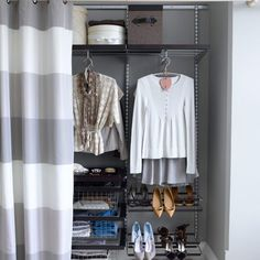 This looks like an easy way to organize a closet!  If only I had that much space...