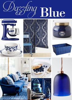 Decorating with blue  Pantone's color for Spring 2014:  Dazzling Blue styleathome.com