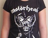 Motorhead Heavy Metal Black Tank Top Tee T Shirt  Cotton Hand Ink Screen Printed Tees. $17.00, via Etsy.
