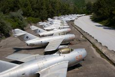 Once part of a closed military district, Kuçovë airbase remains one of the largest military airfields in Albania despite the grounding of its ageing aircraft fleet in 2005. Many of these planes remain on site, neglected, to this day.